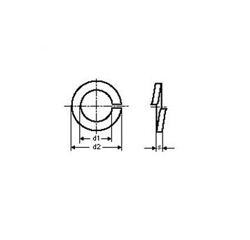 Alátét rugós m 8 horganyzott din-127