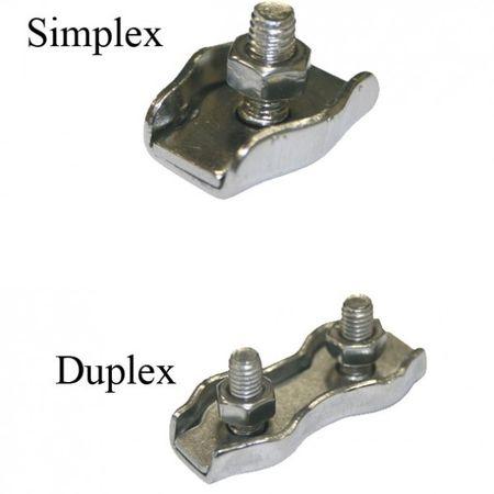 Drótkötélszorító bilincs 2 simplex