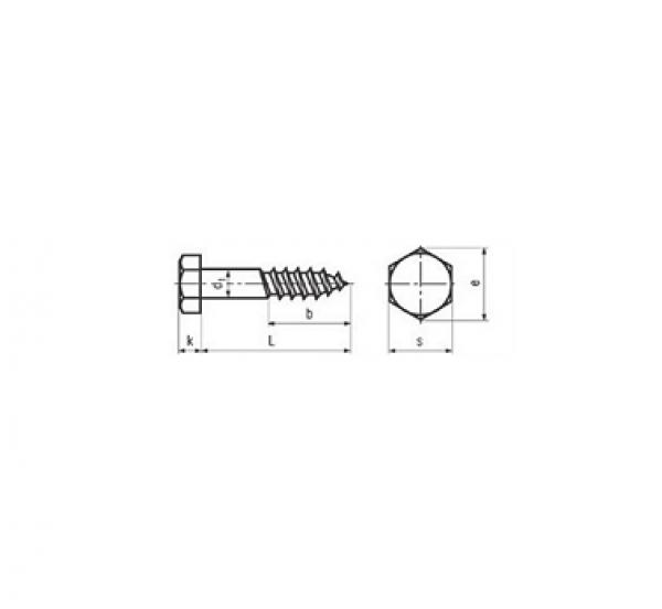 állvány cs. m 6x200 horganyzott din-571